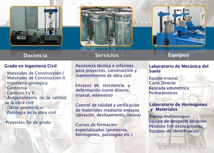 Laboratorio de Mecánica Suelos y Hormigones