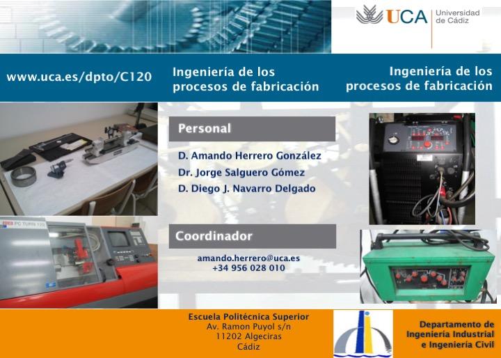 Laboratorio de Ingeniería los Procesos Fabricación